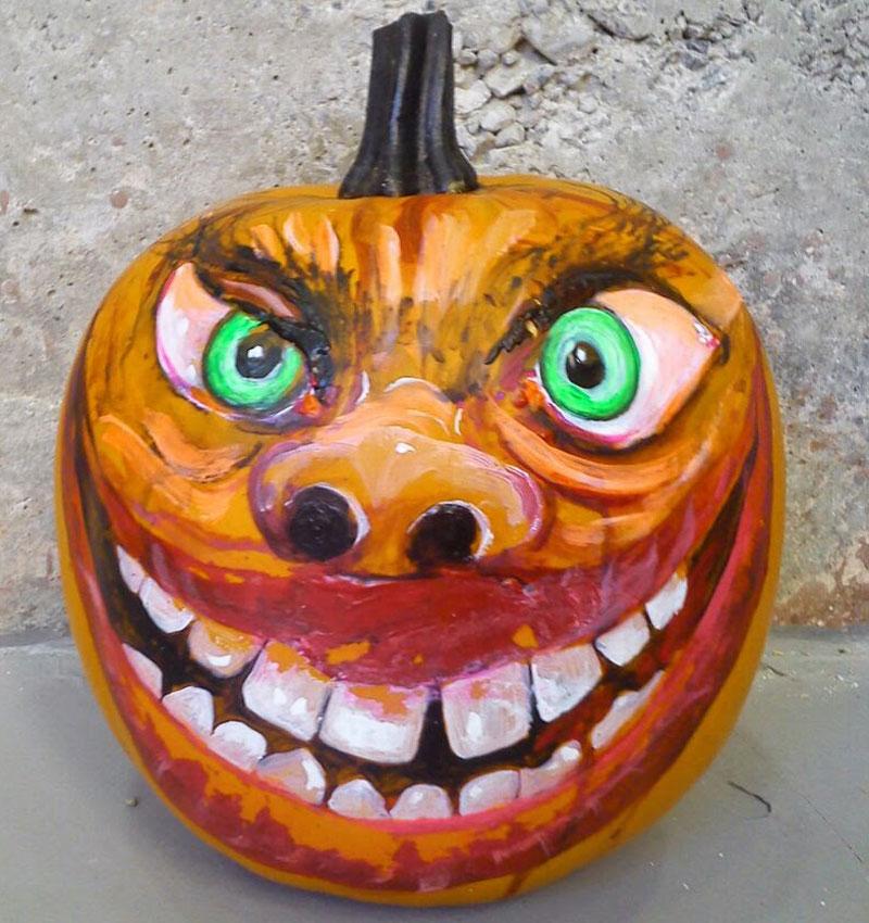 Calabazas para halloween pintadas a mano - Calabazas pintadas para halloween ...