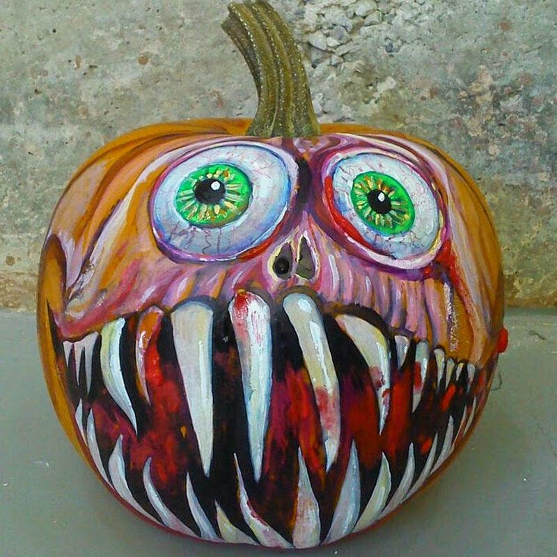 Calabazas para halloween pintadas a mano - Calabazas de halloween pintadas ...