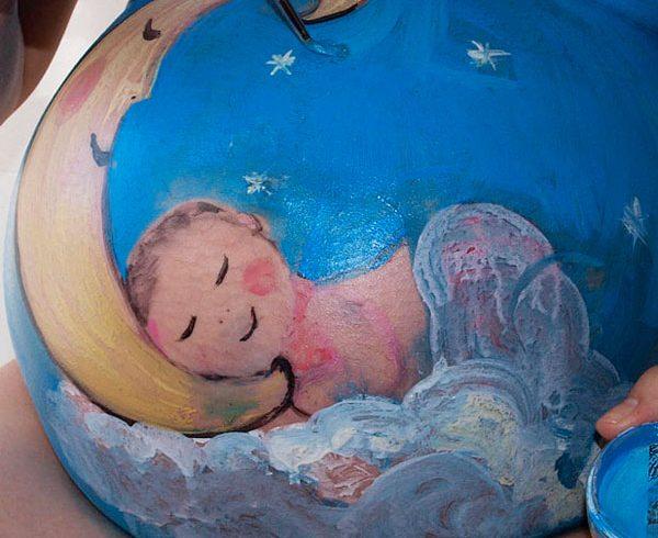 Imagen 1 belly painting rocio