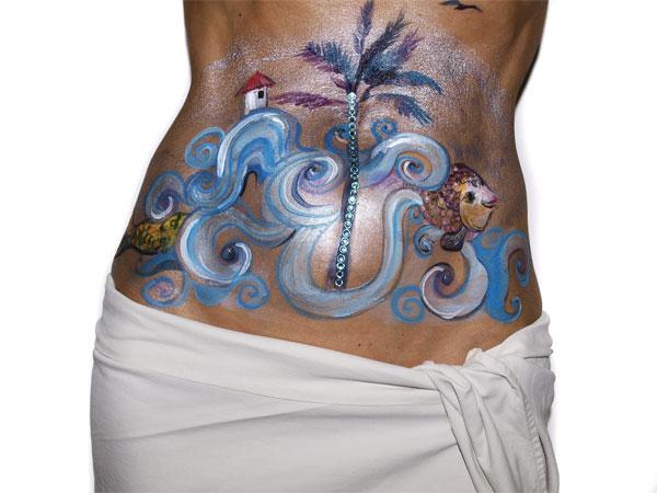 sesion privada de body painting con barbara