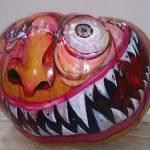 Imagen 1 Calabaza Halloween Pintada a Mano