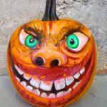 Imagen 2 Calabaza Halloween Pintada a Mano