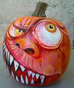 Imagen 7 Calabaza Halloween Pintada a Mano