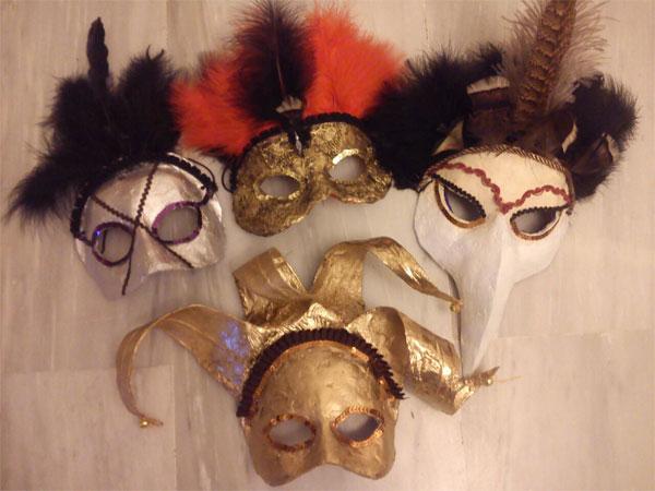 Imagen agrupada Mascaras Venecianas A Mano