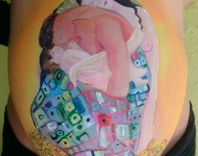 Belly Painting Gustav Klimt