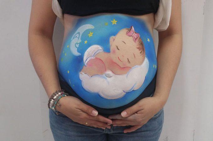 Exhibición pintando barrigas embarazadas galeria 2