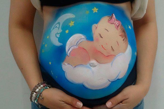 Exhibición pintando barrigas embarazadas galeria 4